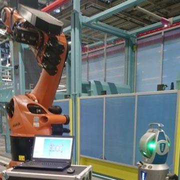 Laser Tracker Beispiel: Roboterbase messen